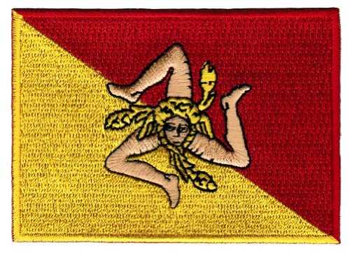 Sicily Italy Flag Embroidered Patch Sicilian Italian Iron-On National Emblem (Italian Flag Souvenir compare prices)
