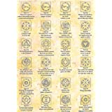 Full Set Of 44 King Solomon Seals On Parchment Paperby none