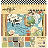 Graphic 45 Mother Goose Pad, 8 by 8-Inch