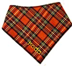 Red Tartan Personalised Dog Bandana -...