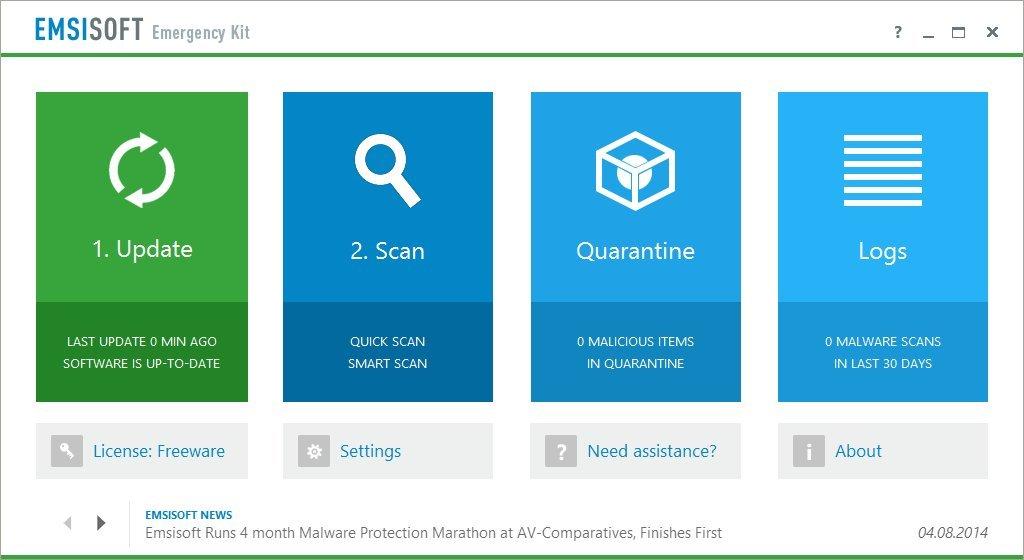 Emsisoft Emergency Kit - Free Antivirus / Anti-Malware (Download)