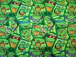 SheetWorld Fitted Oval Crib Sheet (Stokke Sleepi) - Ninja Turtles - Made In USA