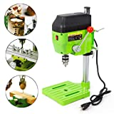 Mini Electric Bench Drill Press Stand Compact Portable Workbench Metal Drilling Repair Tool Expanding Drilling Machine 480W DIY Tool (USA Stock) (Color: Green)