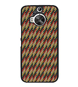 Colourful Pattern 2D Hard Polycarbonate Designer Back Case Cover for HTC One M9 Plus :: HTC One M9+ :: HTC One M9+ Supreme Camera