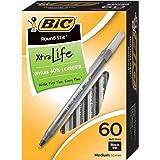 Bolígrafo BIC Round Stic Xtra Life punto medio (1.0mm),color negro 60 unidades