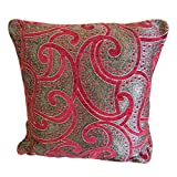 The Fancy Mart Pink & Grey Designer Cushion Cover - Set Of 5 Pcs Style Code - CC-63