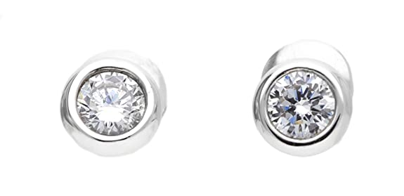 Joop! Women's Stud Earrings 925 Sterling Silver / White Zirconia-Jper90313A000