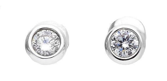 Joop! Women's Stud Earrings 925 Sterling Silver / White Zirconia-Jper90313A000