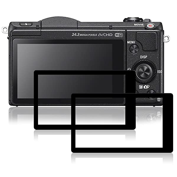 Screen Protectors Compatible Sony A5100, AFUNTA 2 Packs Anti-Scratch Tempered Glass Protective Films for DSLR Digital Camera