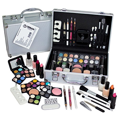 60 Piecetravel Cosmetic Vanity Case Make Up Gift Set Train Box - Nails Eyes Lips Plus More By Urban Beauty