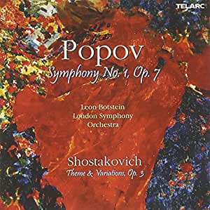 Popov: Symphony No. 1; Shostakovich: Theme & Variations / Botstein, London Symphony Orchestra