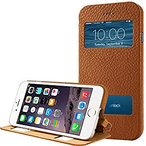 Apple iPhone 6 Plus 5.5'' Case Cover, Jisoncase® Leather Stand Case Cover for Apple iPhone 6 Plus 5.5'' Case Cover[Not Compatible to Apple iPhone 6 (4.7'') 5 5s 4s 4 3gs] - Newest Design Genuine Leather Cases Covers compatibl