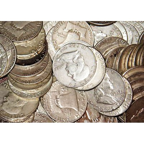 1 Roll of Ben Franklin Halves 90% Coin Silver Junk $10. - Includes COA From The Great American Coin Company