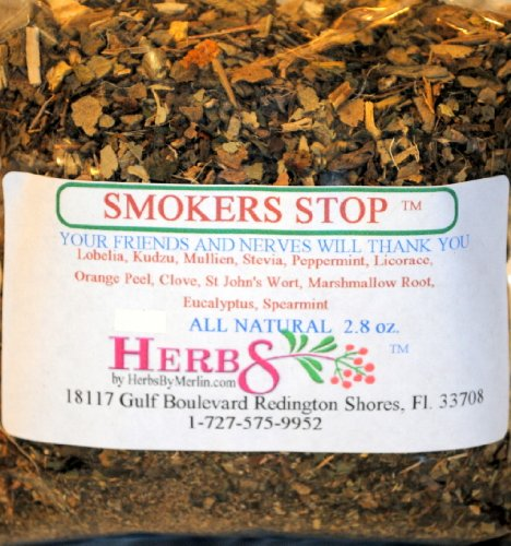 Herbs By Merlin Smokers Stop Tea (Balance Reduce Cravings) Organic Loose Leaf Tea 2.8 Oz