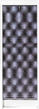 SIMMOB boost105bl911capitons negros Carpeta de cortina madera 104cm, color blanco