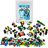 Wheels, Tires, and Axles - 459 Pieces Building Bricks Compatible Set by Brickyard Building Blocks - Includes Steering Wheels, Windshields, and Colorful Brick Building Chassis Pieces (459 pcs)