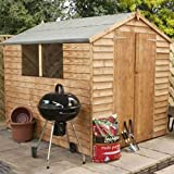 8ft x 6ft Overlap Apex Wooden Storage Shed - Brand New 8x6 Wood Sheds