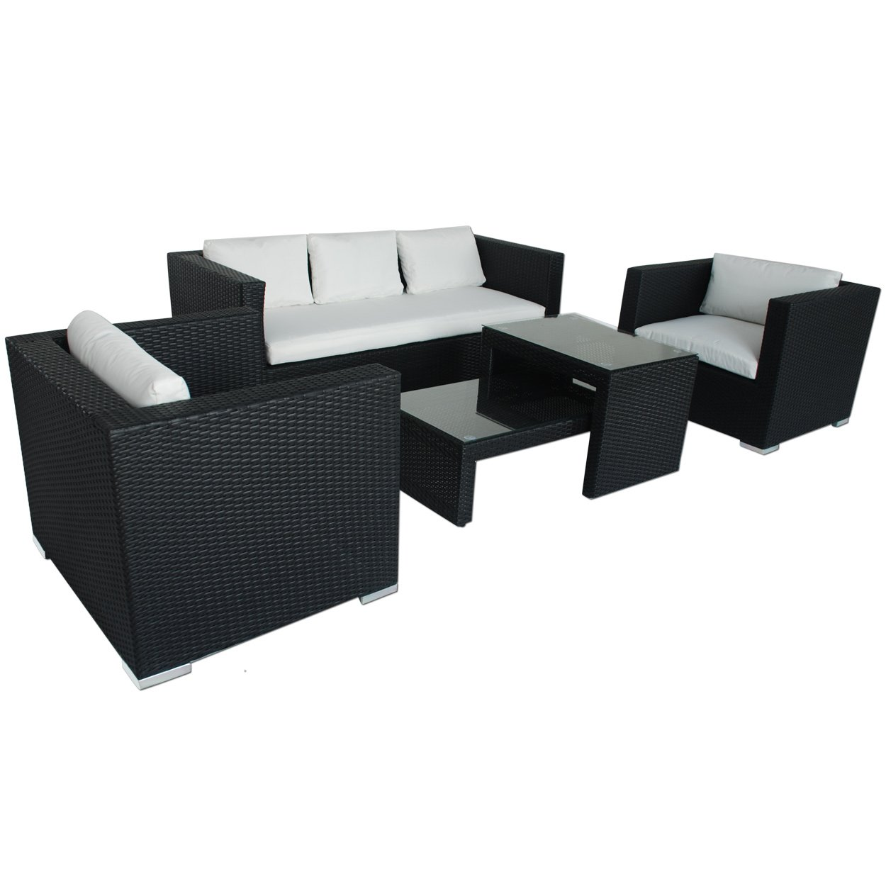 Polyrattan Lounge Santo Domingo (schwarz) online bestellen