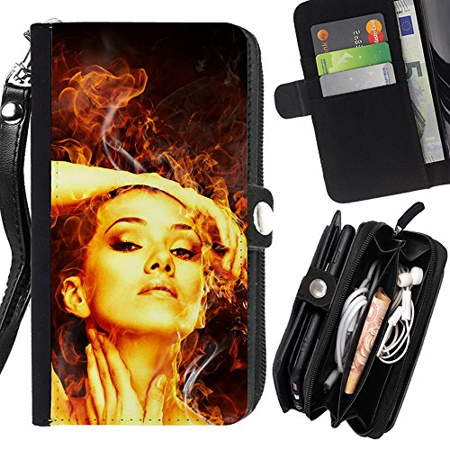 Peach Tech Portafoglio in pelle della Carta di Credito fessure PU Holster Cover in pelle case Huawei P9+ Plus (Not for P9) / Fire Beauty