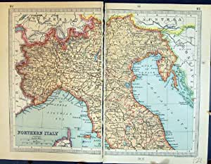 Map Northern Italy Marches Gulf Venice Lombardy 121K111: Kitchen