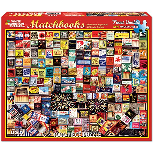 Matchbook Collage - 1000 Piece Jigsaw Puzzle