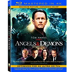 Angels & Demons  (Mastered in 4K) (Single-Disc Blu-ray + Ultra Violet Digital Copy)