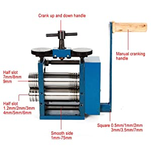 Manual Combination Rolling Mill Machine Roller Metal Steel Jewelry Tabletting