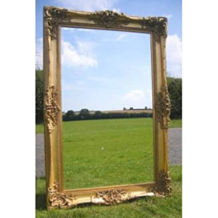 6ft x 4ft Large Gold Gilt Monaco Leaner Mirror (6ft x 4ft)