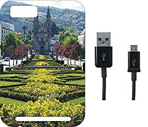 BKDT Marketing Beautifully printed Soft Back cover for Panasonic P75 With Charging Cable