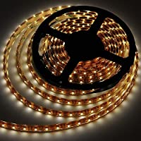 LEDwholesalers IP68 Fully Submersible Waterproof LED Flexible Strip with 300xSMD3528 5m Reel, Warm White 3100K, 2028WW-31K