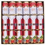 Caspari 12.5-inch Santa Christmas Crackers, Box of 6