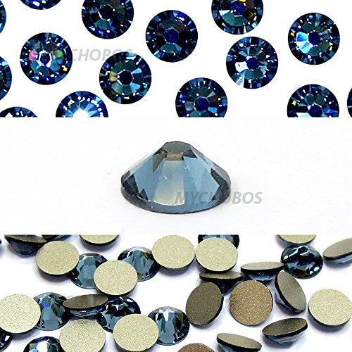DENIM BLUE (266) Swarovski NEW 2088 XIRIUS Rose 34ss 7mm flatback No-Hotfix rhinestones ss34 18 pcs (1/8 gross) *FREE Shipping from Mychobos (Crystal-Wholesale)*