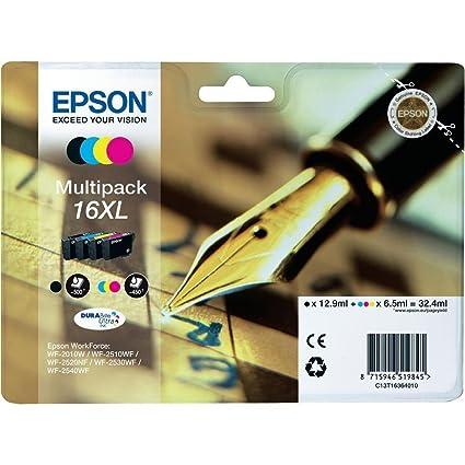 1 x Original multipack xL pour epson workforce wF - 2510WF, c13T16364010-noir, cyan, magenta et