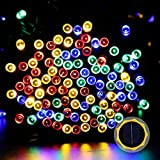 LuckLED Solar Fairy Decorative String Lights, 72ft, Multi-Color, 200 LEDs