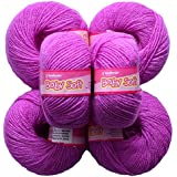 Vardhman Acrylic Knitting Wool, Pack Of 6 (Purple) (Pack Of 10)