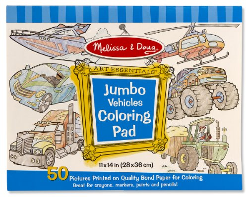 Melissa & Doug Jumbo Coloring Pad - Vehicles - 1