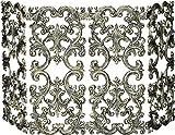 4 Fold Antique Gold Cast Aluminum Screen , UniFlame , Fireplace Screens, Fireplaces