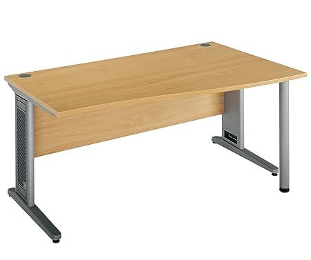 London Largo 1200 R/H Wave Desk - Oak 7251200990