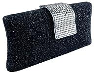 MG Collection Glitter Black Rhineston…