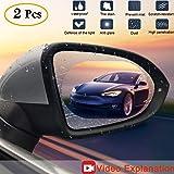 Anti Fog Film Car Rear View Mirror Waterproof Film protective film Anti Glare Rain-Proof Anti Water Mist, HD Nano Film Anti-glare,Anti-scratch,Rainproof (Car rearview mirror anti-fog film) (Tamaño: Car rearview mirror anti-fog film)