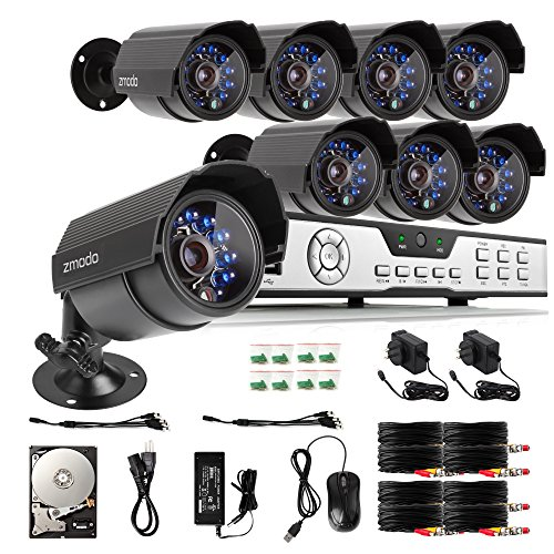 Zmodo 8CH HDMI 960H DVR 700TVL Outdoor Indoor Day Night
