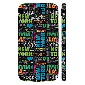 Micromax Canvas Nitro 3 E455 New York To Las Vegas designer mobile hard shell case by Enthopia
