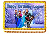 Frozen 1/4 Sheet Edible Photo Birthday Cake Topper. ~ Personalized!