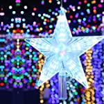 LED Lit Digital Christmas Star Tree T...