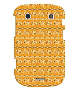 Fuson Premium Artistic Elephant Printed Hard Plastic Back Case Cover for Blackberry Bold 9930
