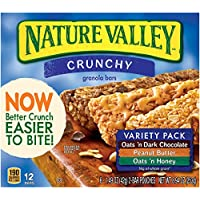Nature Valley Crunchy Granola Bar Variety Pack, 1.49 Ounce 12 Bar (Pack of 6)