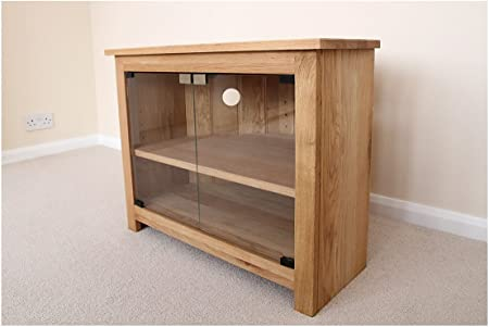 Mueble de esquina para televisor con puertas de cristal, armario o con función de atril, 750 mm con estante ajustable, ideal para el salón o sala de estar