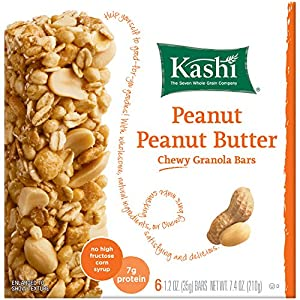 Kashi TLC Chewy Granola Bar, Peanut Peanut Butter, 6-Count Bars(Pack of 6)