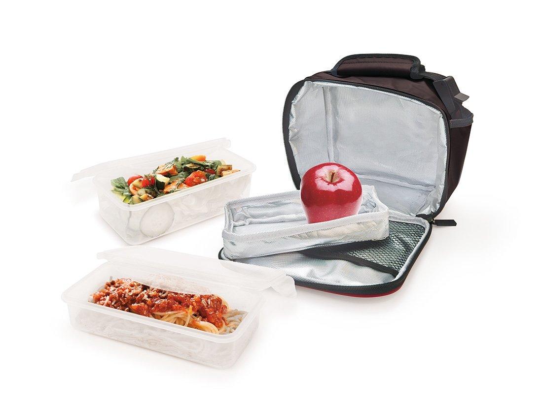 Iris Barcelona Mini LunchBox II incl. 600 ml & 800 ml Food Container, Polyester, Black, 9127-T набор ножей iris barcelona 1721232