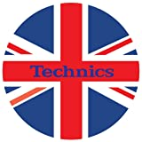Technics Slipmat (Pair) (Union Jack) (Color: Union Jack)